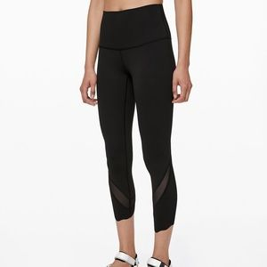 Lululemon Wunder Under Scallop Crop